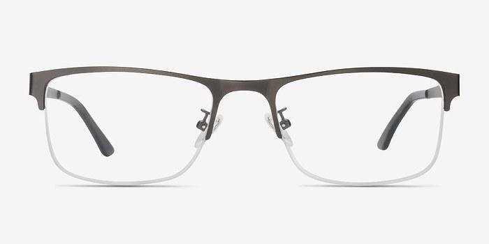 Gunmetal Grip -  Metal Eyeglasses