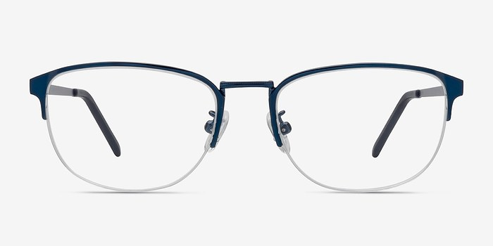 Navy Silox -  Colorful Metal Eyeglasses