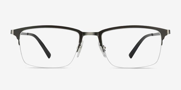 Matte Gray Logic -  Metal Eyeglasses