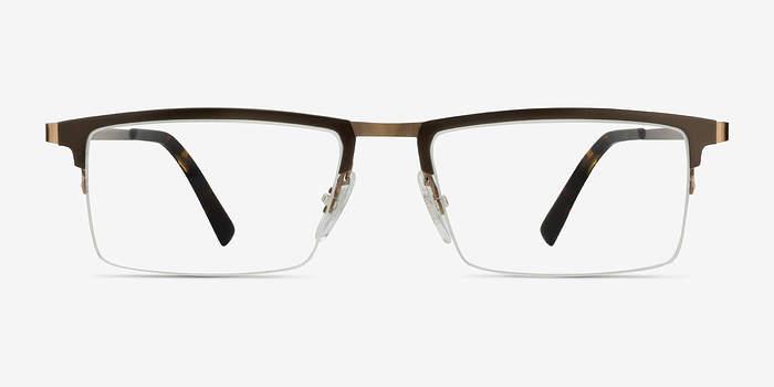 Brown Vector -  Metal Eyeglasses