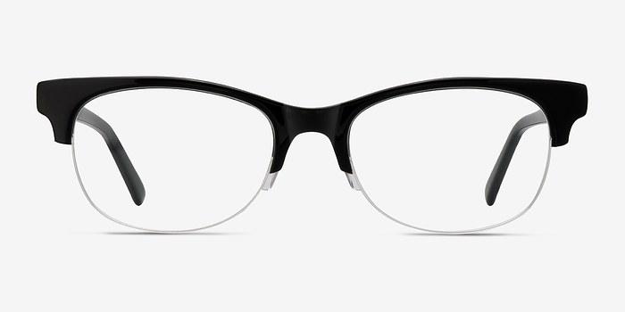 Black Luna -  Vintage Acetate Eyeglasses