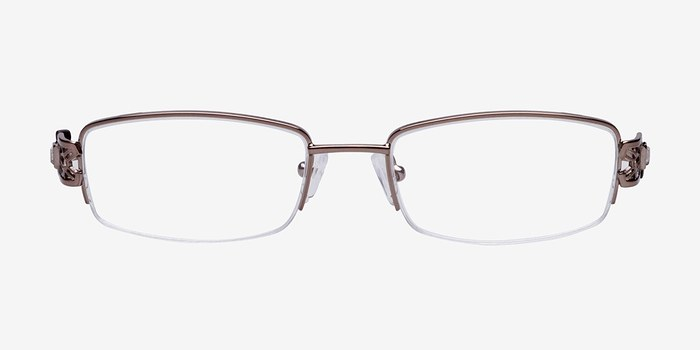Brown M6004 -  Metal Eyeglasses