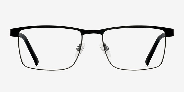 Black Time Square -  Classic Metal Eyeglasses