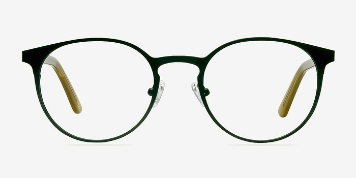 Black Steel/Acetate Outline -  Designer Acetate Eyeglasses