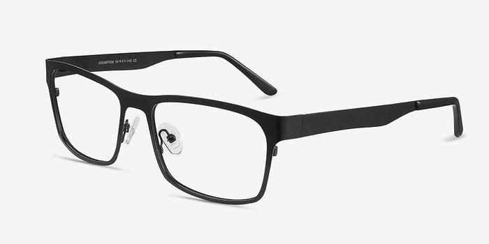 EyeBuyDirect Assumption Black Metal Eyeglasses