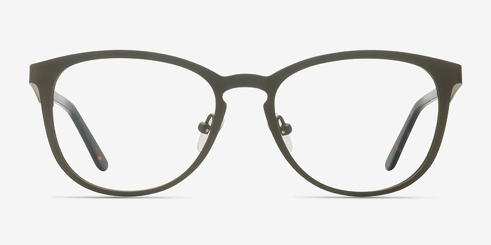 Matte Brown Neta -  Metal Eyeglasses