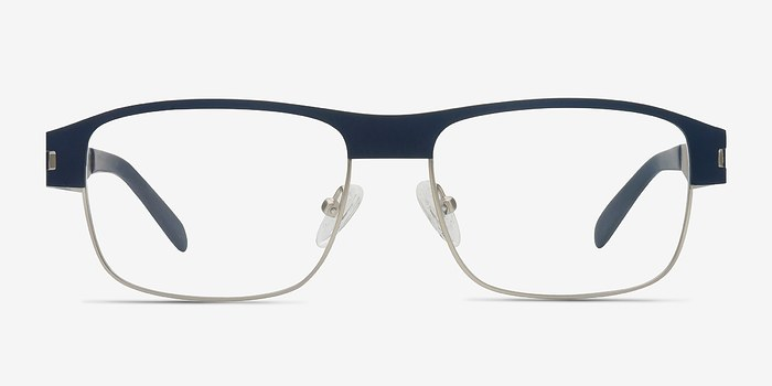 Matte Navy Wallace -  Metal Eyeglasses