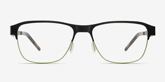 Black Python -  Metal Eyeglasses