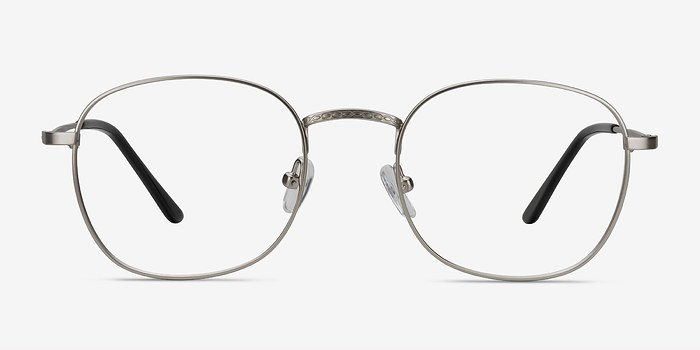 Silver Suspense -  Geek Metal Eyeglasses
