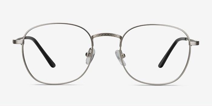 Silver Suspense -  Classic Metal Eyeglasses