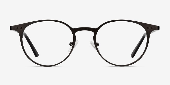 Coffee Thin Line -  Fashion Metal Eyeglasses
