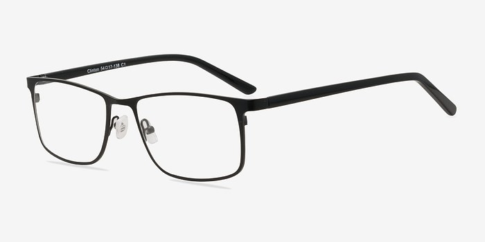 EyeBuyDirect Clinton Black  Metal Eyeglasses