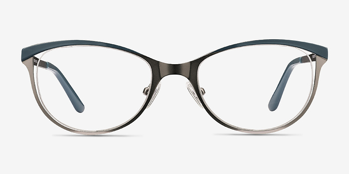 Gunmetal Green Deco -  Metal Eyeglasses