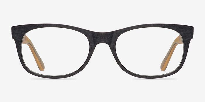 Black Panama -  Geek Wood Texture Eyeglasses
