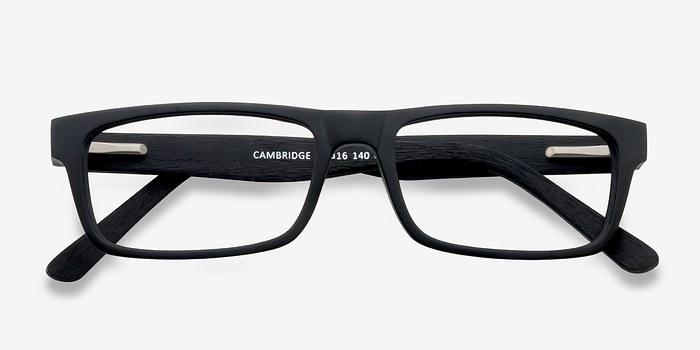 cambridge black wood texture eyeglasses eyebuydirect