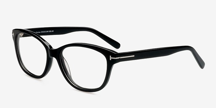 EyeBuyDirect Mia Farrow Black Women Acetate Eyeglasses