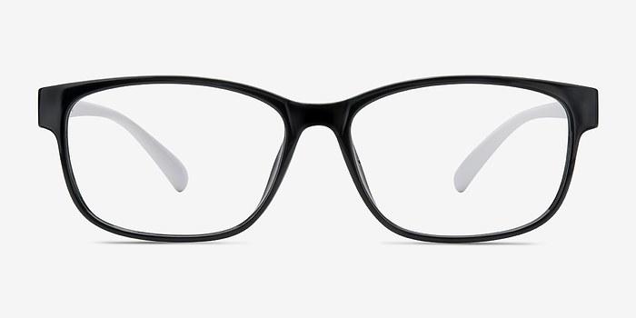 Black Plastic Glasses Frames Turning White : Robbie Black/White Women Plastic Eyeglasses EyeBuyDirect