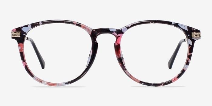 Blue Floral Muse -  Fashion Plastic Eyeglasses