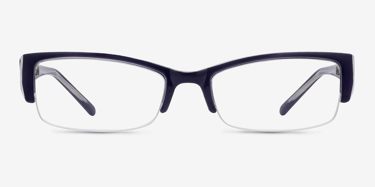 Rimless Glasses Broken : Diane Navy Women Plastic Eyeglasses EyeBuyDirect