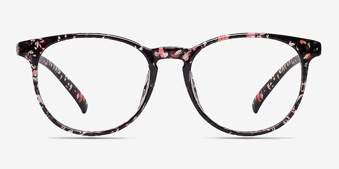 Red/Floral Chilling -  Fashion Plastic Eyeglasses