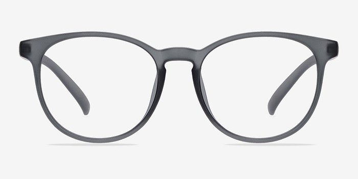 Are Plastic Eyeglass Frames In Style : Chilling Matte Gray Plastic Eyeglasses EyeBuyDirect