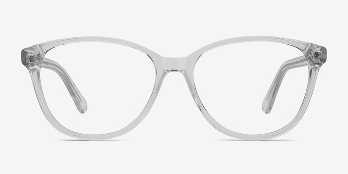 hepburn clear white acetate eyeglasses