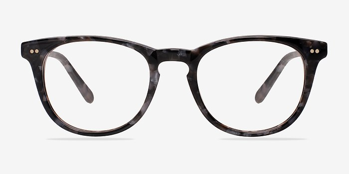 Gray/Floral Flume -  Colorful Acetate Eyeglasses