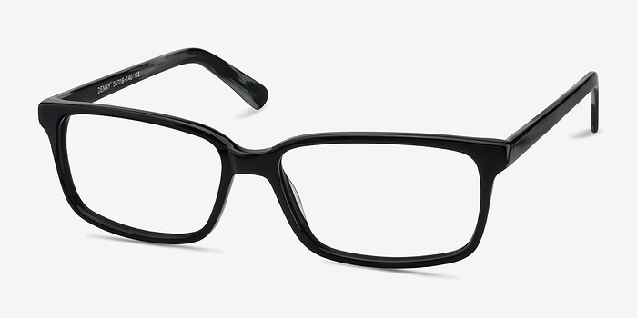 EyeBuyDirect Denny Black-Gray Acetate Eyeglasses