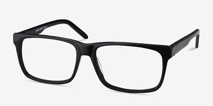 EyeBuyDirect Sydney Black Acetate Eyeglasses