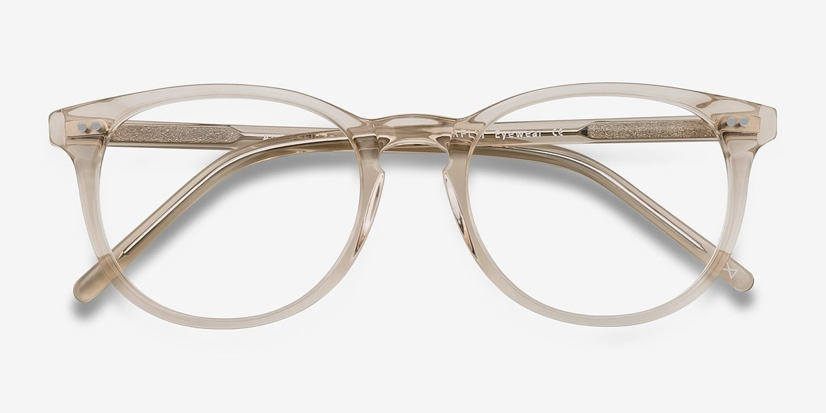Aura | Champagne | Women Acetate Eyeglasses | EyeBuyDirect