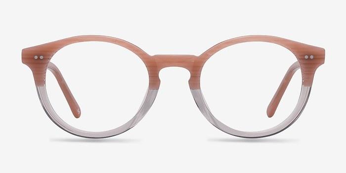 Translucent Striated Rose Fade -  Designer Acetate Eyeglasses