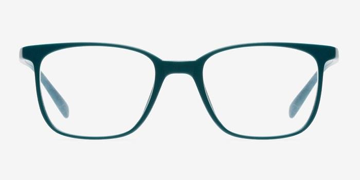 matte green champ fashion plastic eyeglasses