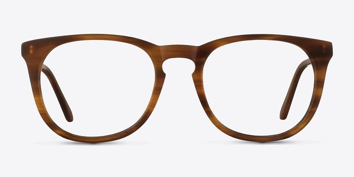 Brown Striped Providence -  Classic Acetate Eyeglasses