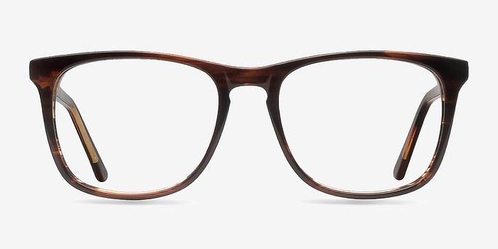 Brown Striped Skyline -  Fashion Acetate Eyeglasses