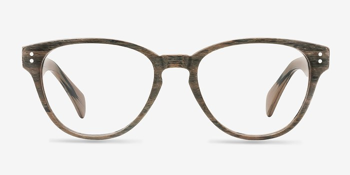 Brown Light Year -  Fashion Wood Texture Eyeglasses