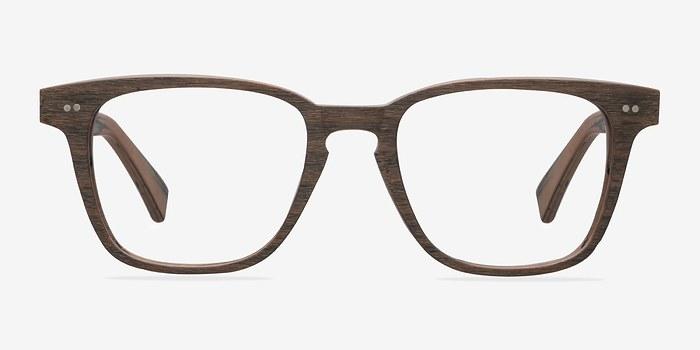 Brown Striped  Samson -  Wood Texture Eyeglasses