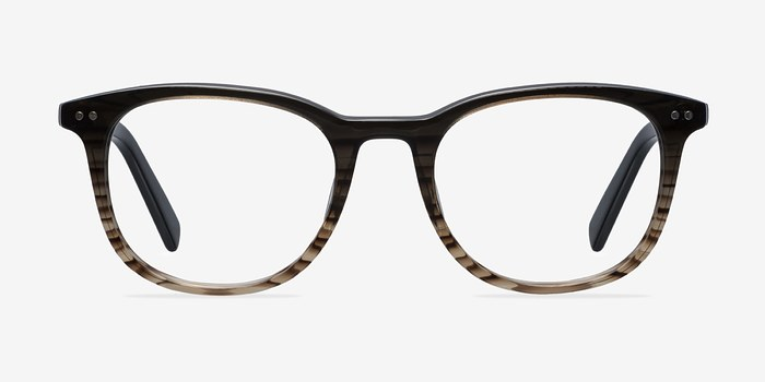 Gray Brown  Demain -  Acetate Eyeglasses