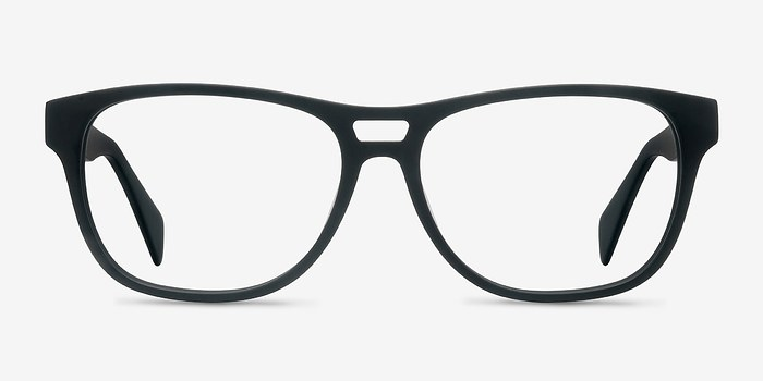 Matte Black Leon -  Acetate Eyeglasses