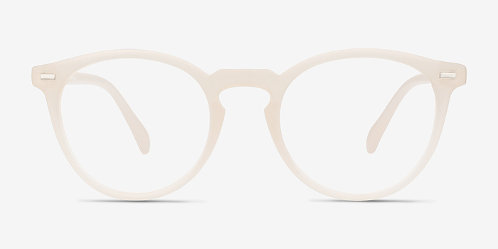matte white peninsula plastic eyeglasses - White Glasses Frames