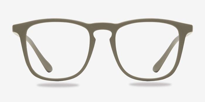 Matte Green  Central -  Plastic Eyeglasses
