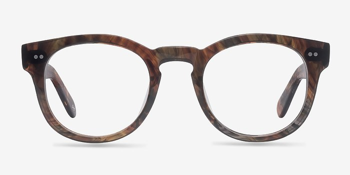 Marbled Hazel Eloquence -  Geek Acetate Eyeglasses