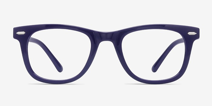 Navy Flurries -  Plastic Eyeglasses