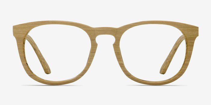 Yellow Providence -  Wood Texture Eyeglasses
