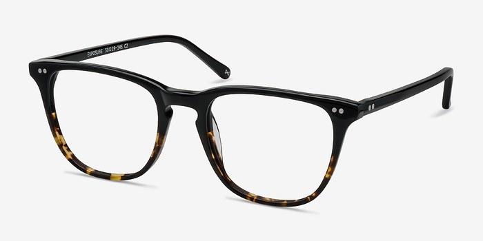 EyeBuyDirect Exposure Jet Amber Men Acetate Eyeglasses