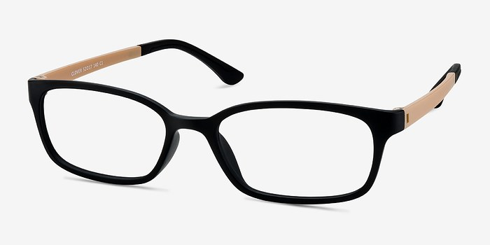 EyeBuyDirect Clover Black & Tan Plastic Eyeglasses