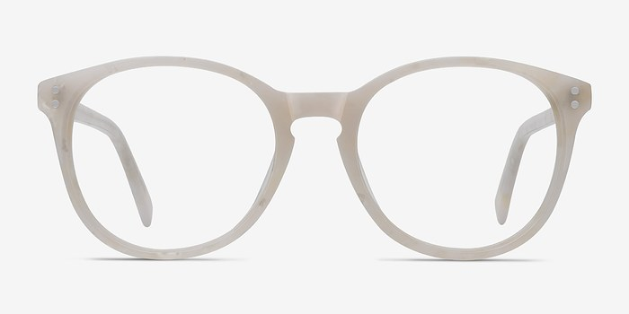 Pearly White Pride -  Acetate Eyeglasses