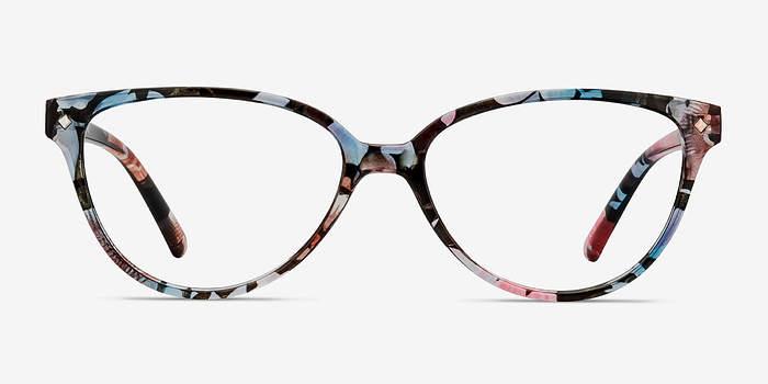 Pink Floral Dame -  Plastic Eyeglasses