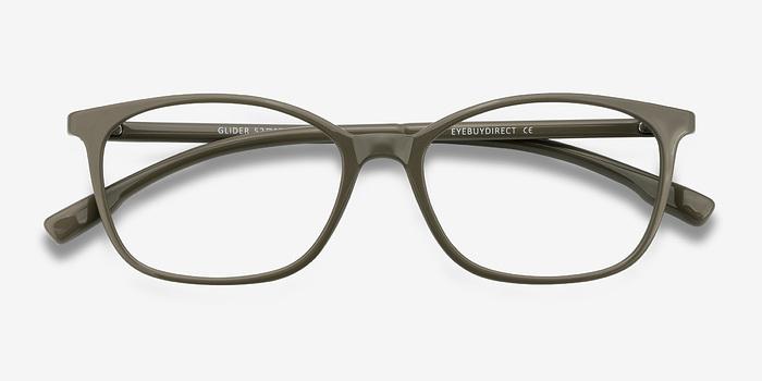 Glider | Olive Green Plastic Eyeglasses | EyeBuyDirect