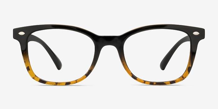 Black Brown Drama -  Vintage Plastic Eyeglasses