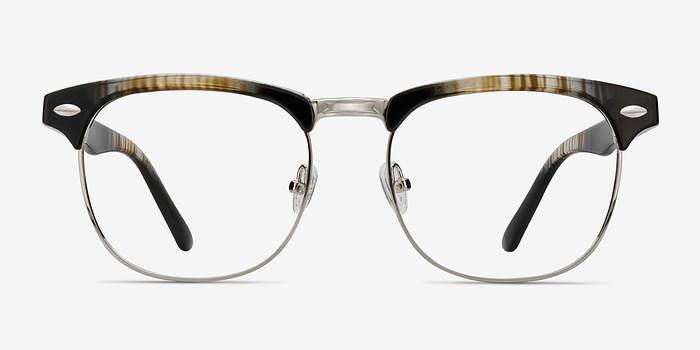 Striped Coexist -  Vintage Metal Eyeglasses